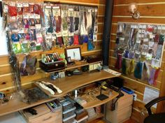 My fly tying desk, updated. Where the magic happens!