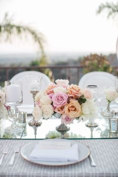 Gorgeous table details: http://www.stylemepretty.com/2015/02/27/clasic-santa-barbara-estate-wedding/ | Photography: Jasmine Star - http://jasminestar.com/