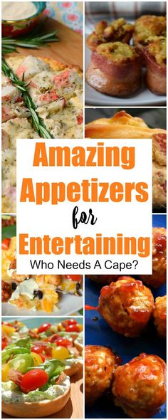 A fabulous collection of Amazing Appetizers for Entertaining. Everything you'll need to host a delicious party with a great selection of food. #appetizer #apps #partyfood #entertaining #tailgating #holidayfood #superbowl #gameday #slowcooker #crockpot #easyrecipe #bacon