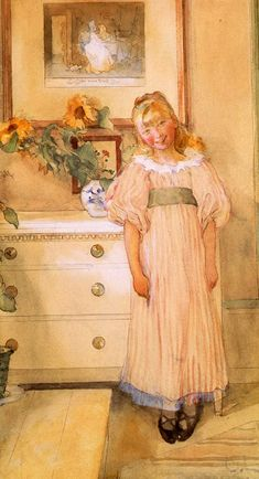 Sunflowers Carl Larsson (1853 – 1919, Swedish), Bethany loved sunflowers even as a little girl