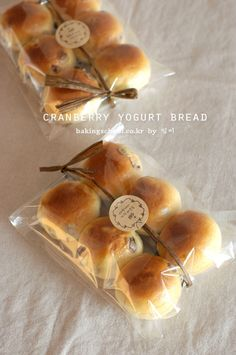Cranberry Yogurt Bread - Baking School (Lesson: Learn to Live) Bake Sale Packaging, Baking Packaging, Dessert Packaging, Bread Packaging, Food Packaging Design, Yogurt Bread, Baking School, Bread Shaping, Eat This