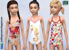 Just for your sims: Cakewalk Swimsuits for girls • Sims 4 Downloads
