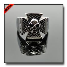CELTIC CROSS SKULL RING