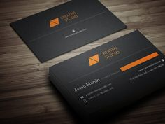 Check out Flat Dual Color Business Card by bouncy on Creative Market