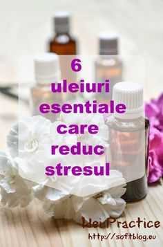 6 uleiuri esentiale care reduc stresul Good To Know, Essential Oils, Personal Care, Drinks, Bottle, Health, Sport, Medicine, Drinking