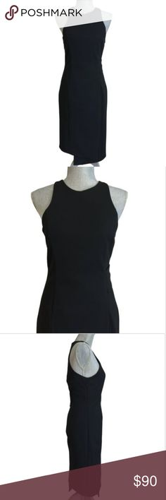 "NICHOLAS Black Side Band Knit Sheath Dress LBD 4 N Nicholas Layered Side Band Dress - Gorgeous! - No Trades Size 4   • Authentic! • New with tags $530.00 • Bust 32""   • Waist 29""  • Hip 36"" • Length 44.5"" • Polyester blend • Stretch ponte • Black • Round neck • Sleeveless (cut in) • Side band waist • Straight skirt • Asymmetric hem • Moderate front panel slit • Fully lined • Back/side zip close NICHOLAS Dresses Midi"