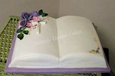 Image detail for -Confirmation Cake Bible Cake on a First Communion Cakes, First Holy Communion, Open Book Cakes, Bible Cake, Confirmation Cakes, Floral Cake, Piece Of Cakes, Celebration Cakes, Themed Cakes