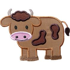 Boy Cow Applique by HappyApplique.com
