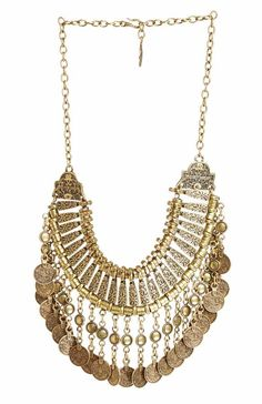 Natalie B Fit For a Queen Necklace in brass