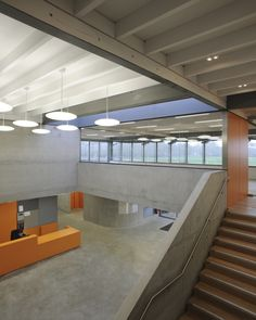 YM : Stanton Williams / Gallery of Hackney Marshes Centre / 2011 / © David Grandorge Colour Architecture, Concrete Architecture, Contemporary Architecture, Interior Architecture, Interior Design, Stanton Williams, Sport Hall, Student House, Stair Steps