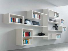 Use your books for classy decoration of your home or apartment ...