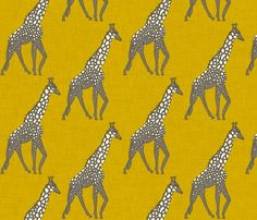 animalia in linen- love this yellow. It adds in more color to the space and goes well with the colorful Ikat.