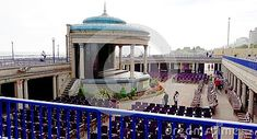 Bandstand on the Eastbourne promenade, East Sussex, England.
