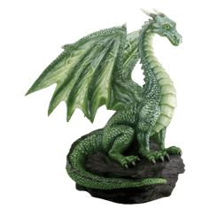 This gorgeous Green Dragon On Rock Fantasy Figurine Decoration Decor Collectible has the finest details and highest quality you will find anywhere! Green Dragon On Rock Fantasy Figurine Decoration Decor Collectible is truly remarkable. Magical Creatures, Fantasy Creatures, Rock Sculpture, Lion Sculpture, Dragons, Dragon Figurines, Dragon Artwork, Dragon Statue, Green Dragon