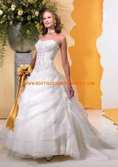 Robe de mariée princesse avec bustier robe de mariée glamour
