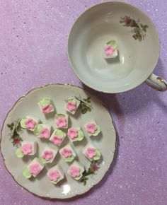 Tiny decorated Sugar Cubes for Tea parties, Weddings & More! by SugarFoxFlowers on Etsy https://www.etsy.com/listing/257004519/tiny-decorated-sugar-cubes-for-tea