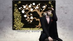 ~beautiful world~The Sims 3′s Haute Hip Wall Tree Light for The Sims 4.