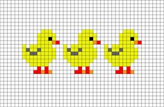 Ducks or chickens cross stitch. Bird cross stitch.