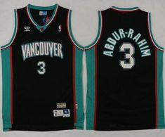 fe601e995 Grizzlies  3 Shareef Abdur-Rahim Black Throwback Stitched NBA Jersey  Shareef Abdur Rahim