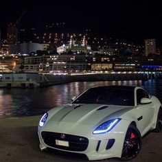 #FType At Night In #MonteCarlo - @ravez750 • #CarsWithoutLimits