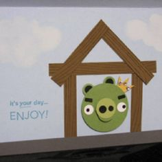 Angry pig card