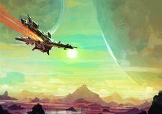 No Man's Sky Art Anime Sites, Spaceship Art, No Man's Sky, Sci Fi Fantasy, Space Fantasy, Alien Worlds, Sky Art, Environment Concept Art, Science Fiction Art