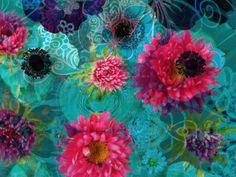 Blue Pink Blossom Dance - ALAYA GADEH