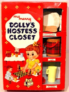 My Merry Dolly's Hostess Closet ~ I'm not sure if I had this set, but I may still have the little cooler somewhere...