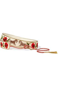 Stella McCartney | Embroidered cotton-canvas waist belt | NET-A-PORTER.COM