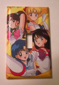 Sailor Moon comic book anime decoupage light by PastePotPrefects