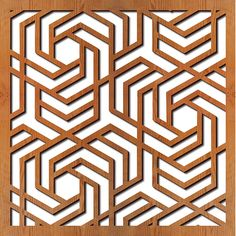 Hexagon Puzzle lazer cut privacy panel   TPC butlers pantry