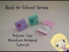 Kawaii Miniature Notepad polymer clay tutorial