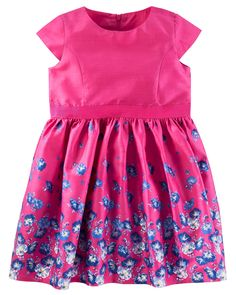 Toddler Girl Sateen Floral Tulle Dress from Carters.com. Shop clothing & accessories from a trusted name in kids, toddlers, and baby clothes.