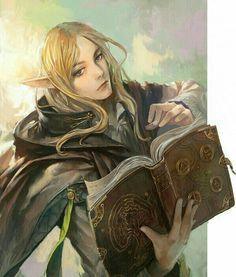Elf Wizard - Pathfinder PFRPG DND D&D d20 fantasy                                                                                                                                                                                 More