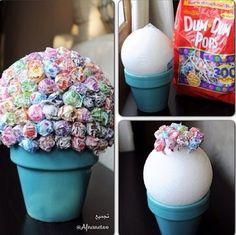 Would derek accept a sucker bouquet for part of the centerpiece?? Looks really pretty (a girl from work brought one in a girlfriend made for her) and its candy! Just an idea :)