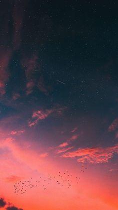 Night Fall Lake Aurora IPhone Wallpaper - IPhone Wallpapers