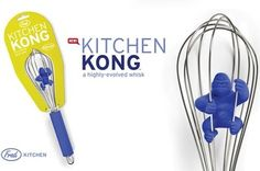 Fred & Friends KITCHEN KONG King Kong Gorilla Whisk Mixer Fun Kitchen Tool Gift