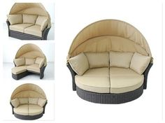 Outdoor-Wicker-Daybed-Patio-Sun-Bed-With-Canopy-Lounge-Pool-Furniture-Set-Round