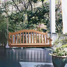 Porch Swing | 19 Beautiful Backyard Building Projects | Photos | Yard & Garden | This Old House
