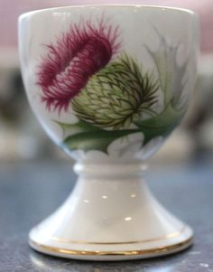Royal Albert 'Highland Thistle' pedestal egg cup