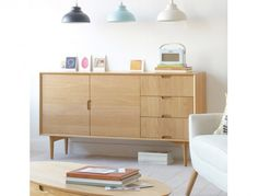 Our Scandinavian retro inspired Olson side board is a perfect piece for you dining or living room | Greenslades Furniture