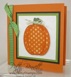 www.PattyStamps.com - Halloween pumpkin - easy card with Stampin Up! oval punch