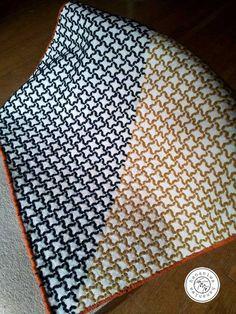 SASHIKO wrapping cloth-bi-color yakko sequence motif. Good to wrap BENTO box