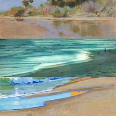 Water and sand. Details from paintings and photograph by Bill...