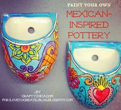 iLoveToCreate Blog: DIY Mexican Painted Planters