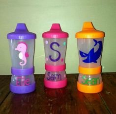 Cute sippy cups! Holds juice and snacks!