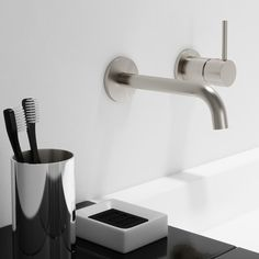 The Elementi Uno Wall Mounted Basin Mixer offers a glamorous look without being too ostentatious in the kitchen. Wall Mounted Basins, Basin Mixer, Mixers, Edge Design, Furniture Making, Bathroom Stuff