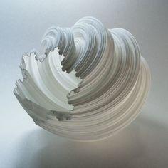 Spiral 3D Printed Vase, Modern Vase, Abstract Decor, Geometric Wedding Vases, Modern Design, White Vase, Fractal, wedding decor