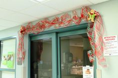 Deco Mesh Garland- using pipe cleaners, floral wire, & a roll of Deco Mesh