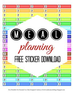 Free Printable Meal Planning Stickers Andrea Nicole Blogs